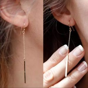 Vertical Bar Drop Earrings